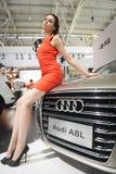 Mostra di modello di At Car Fotografia Stock
