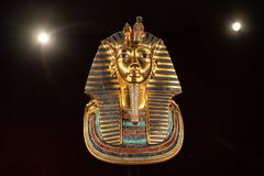 Mostra di re Tutankhamun Egyptian sull'esposizione al museo dell'Oregon di scienza e di industria fotografie stock