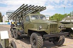 Mostra di retro veicoli militari Immagine Stock