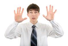 Mostra do adolescente as palmas Imagens de Stock Royalty Free
