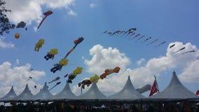 Mostra do balão de ar do mundo imagem de stock