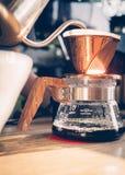 Mostra do café do gotejamento Fotografia de Stock Royalty Free