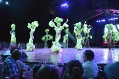 MOSTRA DO CLUBE NOCTURNO DE CUBA TROPICANA Foto de Stock Royalty Free
