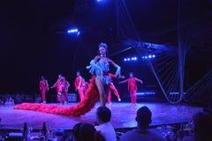 MOSTRA DO CLUBE NOCTURNO DE CUBA TROPICANA Fotografia de Stock Royalty Free