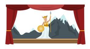 Mostra do desempenho de teatro ilustração do vetor