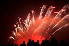 Mostra do fogo-de-artifício Imagem de Stock