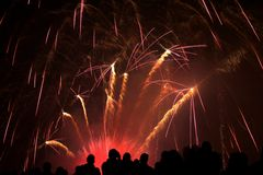 Mostra do fogo de artifício Imagem de Stock Royalty Free