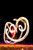 Mostra do fogo do balanço Imagens de Stock Royalty Free