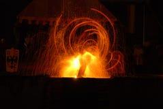 Mostra do fogo histórica Foto de Stock