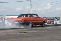 Mostra do fumo do carro do rodeio do vintage Fotos de Stock