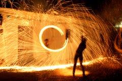 Mostra do incêndio fotografia de stock