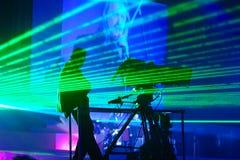 Mostra do laser Imagens de Stock