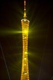 Mostra do laser da torre de GuangZhou Imagem de Stock