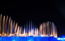 Mostra do laser em Sentosa, Singapore Imagens de Stock Royalty Free