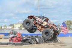 Mostra do monster truck fotografia de stock royalty free