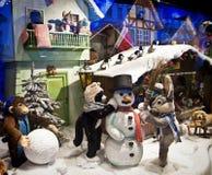 Mostra do Natal de brinquedos mecânicos do luxuoso na loja de Kaufhof em Mari imagens de stock royalty free
