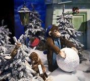 Mostra do Natal de brinquedos mecânicos do luxuoso na loja de Kaufhof em Mari imagem de stock royalty free