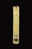 Mostra do termômetro 14 graus Célsio Fotos de Stock