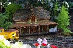 Mostra do trem do feriado Fotografia de Stock
