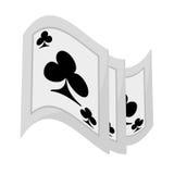 Mostra do truque mágico de Pocker ilustração do vetor