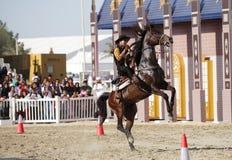 Mostra do vaqueiro, escola de equitação de Muharraq, Barém Fotos de Stock