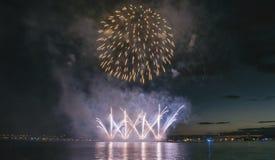 Mostra dos fogos-de-artifício Fotografia de Stock