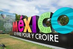 Mostra e visita virtuale sul Messico Parigi, il Parc de la Villette (Francia) da 4 al 22 luglio 2015 immagini stock