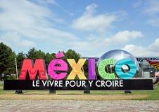 Mostra e visita virtuale sul Messico Parigi, il Parc de la Villette (Francia) da 4 al 22 luglio 2015 fotografia stock