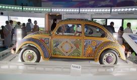 Mostra e visita virtuale sul Messico Parigi, il Parc de la Villette (Francia) da 4 al 22 luglio 2015 Qui, il Vochol fotografie stock libere da diritti