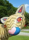 Mostra e visita virtuale sul Messico Parigi, il Parc de la Villette (Francia) da 4 al 22 luglio 2015 un Alebrije, il drago immagini stock libere da diritti