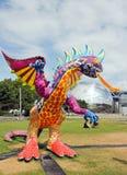 Mostra e visita virtuale sul Messico Parigi, il Parc de la Villette (Francia) da 4 al 22 luglio 2015 un Alebrije, il drago immagine stock
