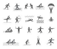 Mostra em silhueta figuras dos atletas Foto de Stock