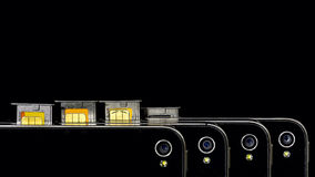 Mostra esperta dos camers do telefone com cartão de SIM Foto de Stock