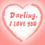Mostra eu te amo o coração e o noivo da afeição Foto de Stock
