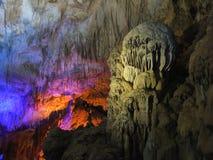 Mostra feericamente clara na caverna do PROMETHEUS Fotografia de Stock Royalty Free