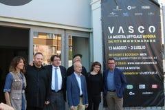 Mostra fotografica sulla vita di Vasco Rossi Immagine Stock
