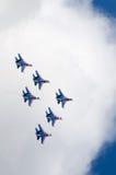 Mostra il volo di dimostrazione a MAKS 2015 Fotografia Stock Libera da Diritti