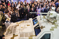 Mostra internazionale della difesa in Abu Dhabi Fotografia Stock Libera da Diritti