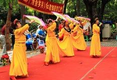 Mostra local da dança no parque de pessoa Chengdu Fotografia de Stock Royalty Free