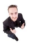 Mostra nova do homem de negócios sim imagem de stock