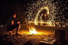 Mostra pública de Firestarters Imagem de Stock