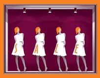 Mostra roxa com manequins ilustração royalty free