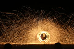 Mostra surpreendente do fogo foto de stock
