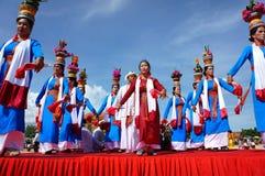Mostra surpreendente, estádio vietnamiano, carnaval de Kate Imagens de Stock