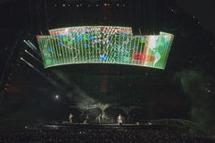 Mostra U2 360 em São Paulo fotografia de stock royalty free