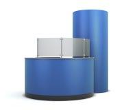 Mostrador azul de visitantes Fotos de archivo libres de regalías