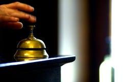 Bell en la tabla foto de archivo libre de regalías