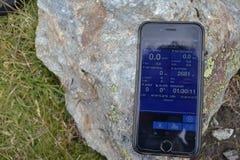 Mostrando altitudine in Alpen Fotografie Stock Libere da Diritti