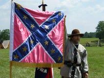 Mostrando a bandeira confederada Imagem de Stock Royalty Free