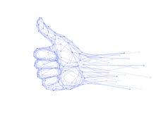 Mostrando ESTÁ BEM a vista, dedos que mostram o símbolo Imagem de Stock